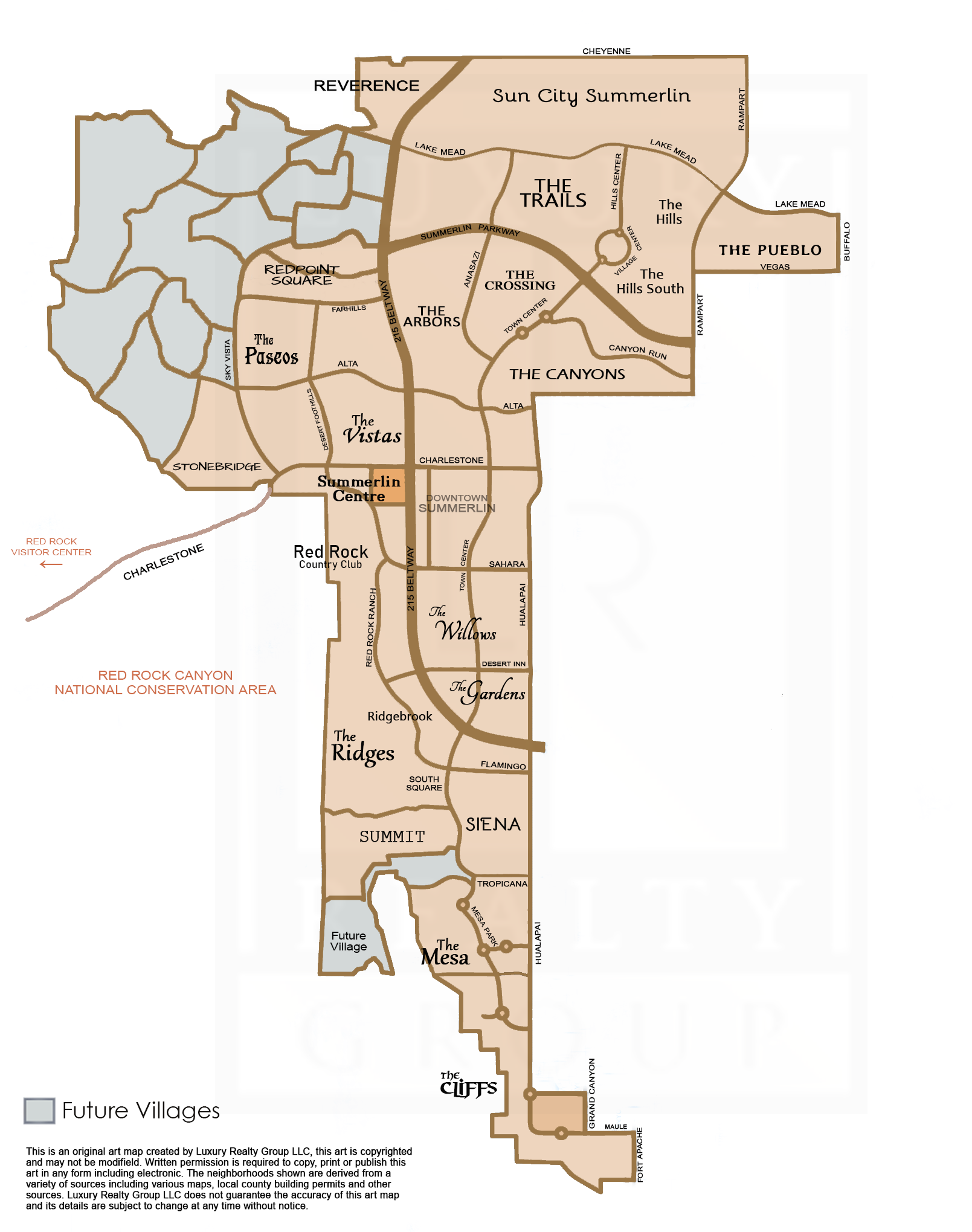 Summerlin Border Map by Luxury Realty Group LLC FINAL